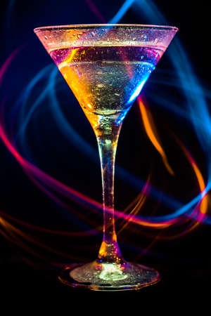 colourful coctail on the black background Stock Photo - 15094619