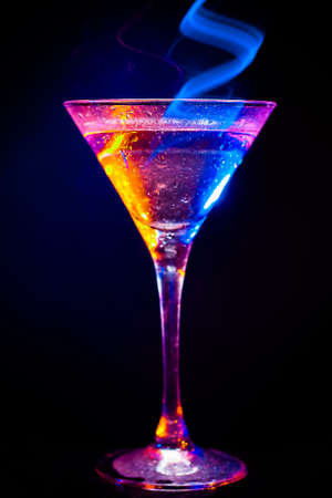 colourful coctail on the black background Stock Photo - 15094459