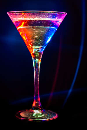 colourful coctail on the black background Stock Photo - 15097314