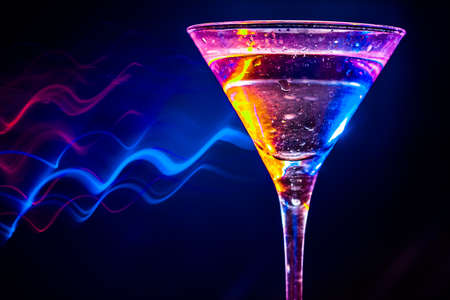 colourful coctail on the black background Stock Photo - 15094997