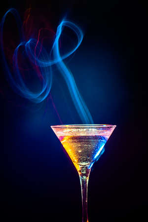 colourful coctail on the black background Stock Photo - 15094612