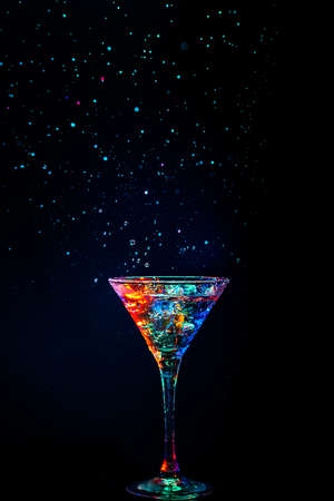 colourful coctail on the black background Stock Photo - 15094172