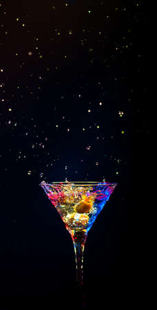 colourful coctail on the black background Stock Photo - 15094394
