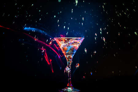 colourful coctail on the black background Stock Photo - 15095009