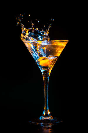 cocktail party: colourful cocktail on the black background