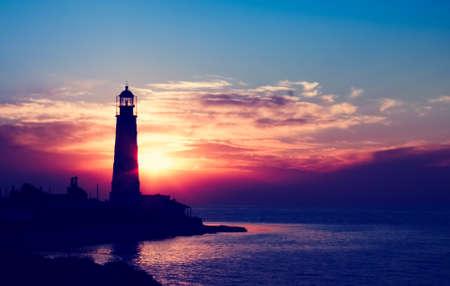 Lighthouse on sunset  Crimea, Ukraine Stock Photo - 15833491