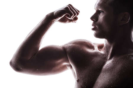 Handsome athlete on a white background Stock Photo - 16693991
