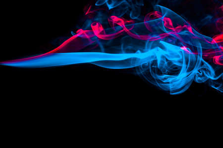 Coolor smoke in the black abstract background photo