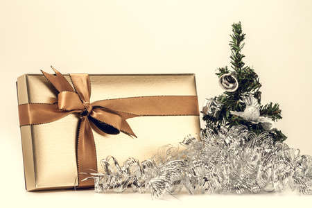 Christmas gift box with a nice decoration photo