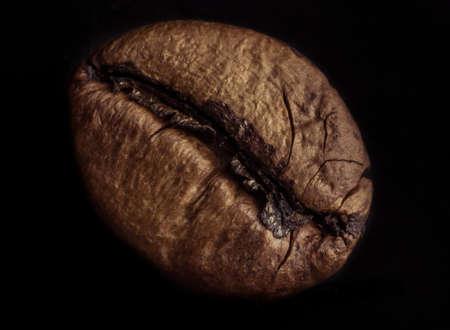 黒の背景にコーヒー豆
