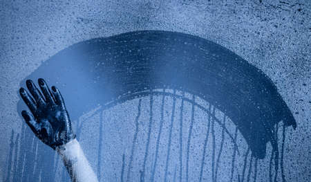 steamy: Natural blue water drop background. water drops background