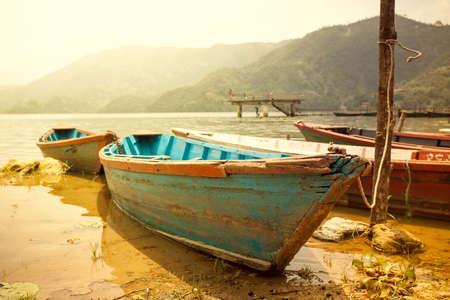 美しいアジアの風景、鮮やかな色、手付かずの自然。ネパール 写真素材
