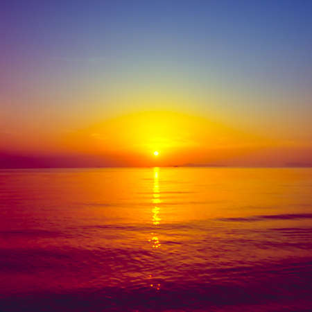 aonang: Tropical sunset on the beach. Ao-Nang. Krabi. Thailand