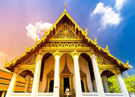 Bangkok luxurious royal palace and garden, Thailand Stock Photo