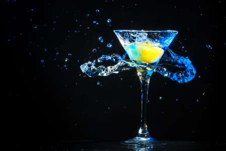 colourful coctail on the black background Stock Photo - 24901556