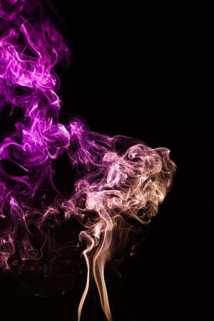 mistery: Mistery beautiful smoke on the black background Stock Photo