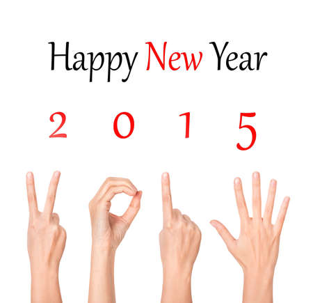 twenty thirteen: 2015 new year showing by woman hands Stock Photo