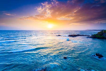 Indian ocean on sunset. Sri Lanka, Galle Fort