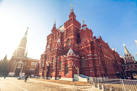 The State Historical Museum on Red Square. Moscow. Russia Banco de Imagens