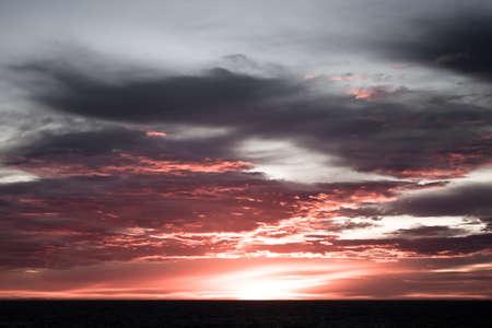 Summer  sunset in Antarctica.  Beautiful winter background. Stock Photo