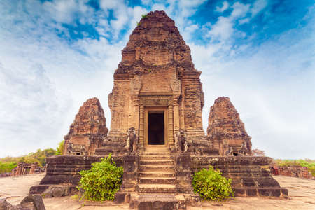 hindu temple: Ancient buddhist khmer temple in Angkor Wat, Cambodia. Pre Rup Prasat