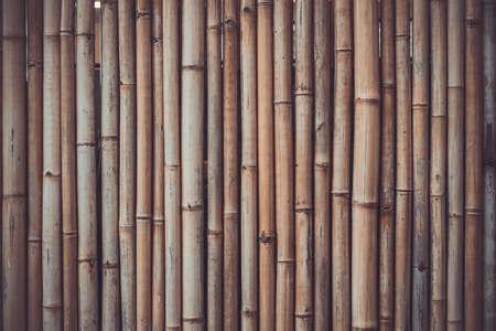 Bamboo wooden background. Vintage toning photo