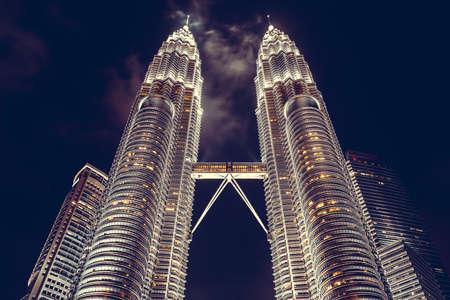 Kuala Lumpur, Malaysia. Petronas Towers twin skyscrapers