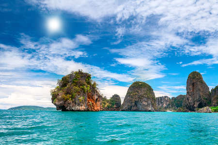 phi: Cliffs and the clear sea in Phi Phi islands, Thailand