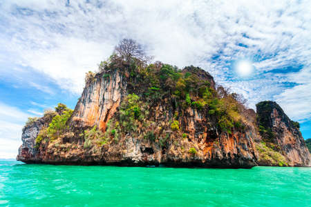 phi phi: Cliffs and the clear sea in Phi Phi islands, Thailand
