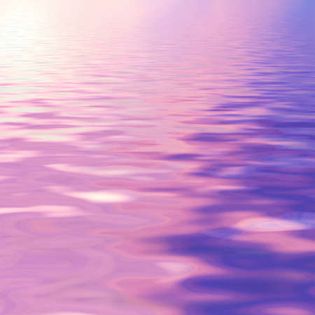 reflection: natural landscape with purple sky reflected in water