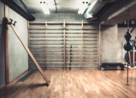 gimnasio: área vacía de boxeo en el gimnasio Foto de archivo