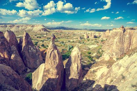 spectacular: Spectacular rocks formations near Goreme, Cappadocia, Turkey