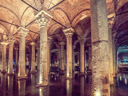 cistern: Basilica Cistern is the largest ancient underground cistern in Istanbul, which was used to store water in the past and is now a popular tourist attraction