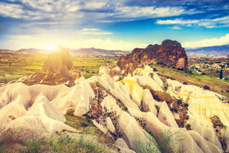 goreme: Spectacular rocks formations near Goreme, Cappadocia, Turkey