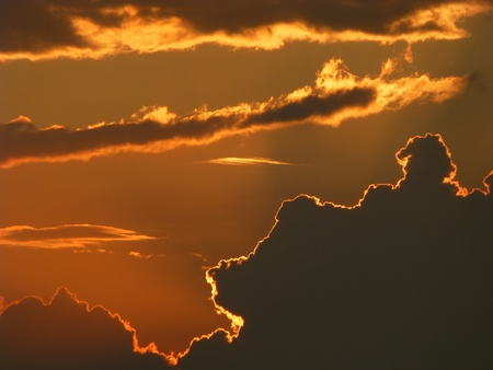 chess knight,horse shaped cloud in beautiful sunset photo