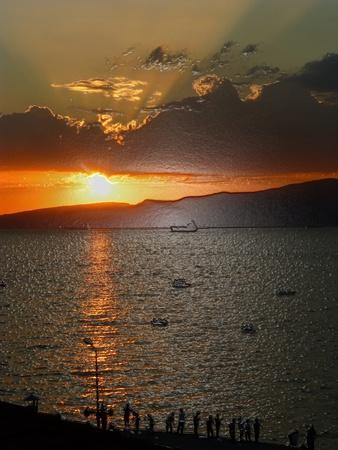 filtered: filtrada hermosa puesta de sol