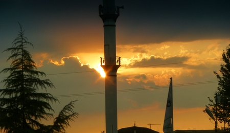 minaret: minaret landscape