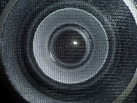 speaker close up photo
