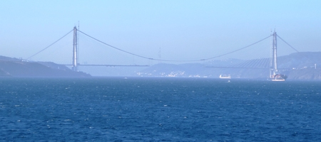 bosporus: istanbul bosphorus strait 3th bridge