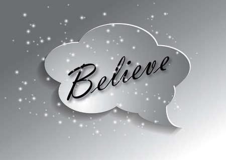 Illustration of believe concept