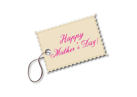 Illustration of mothers day tag