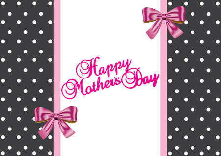 Happy mother s day gift card design Vector