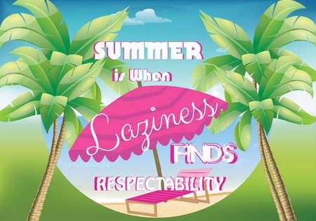 to sunbathe: Summer poster