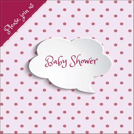 b�b� filles: Illustration de douche de b�b� carte d'invitation pour les b�b�s filles