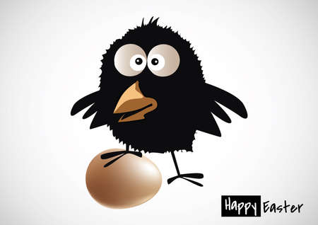 Illustration of black chick Vector
