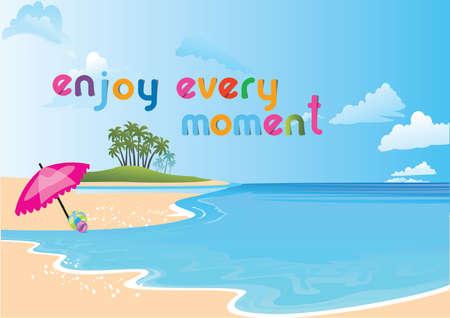 beach scene: Illustration of an inviting beach scene   Illustration