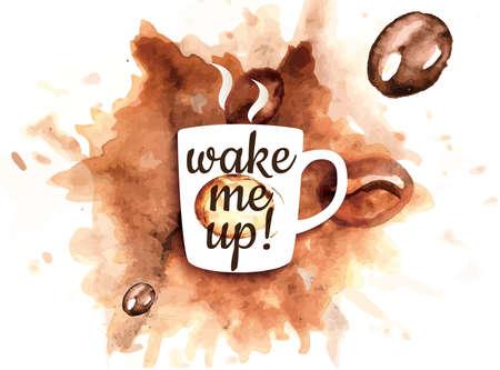 coffee crop: Illustration of coffee mug with coffee splash