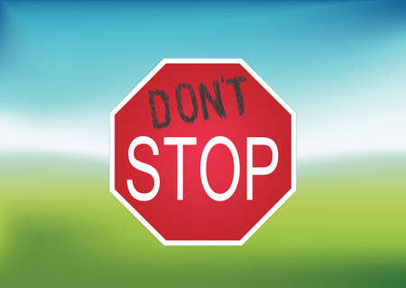 Don t Stop sign