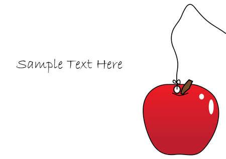 simple apple card Stock Vector - 27085189