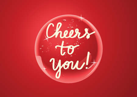 Cheers to you you word on red shiny vector button Vector